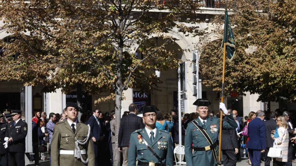 La Guardia Civil celebra su 175 aniversario en el paseo de la Independencia de Zaragoza.