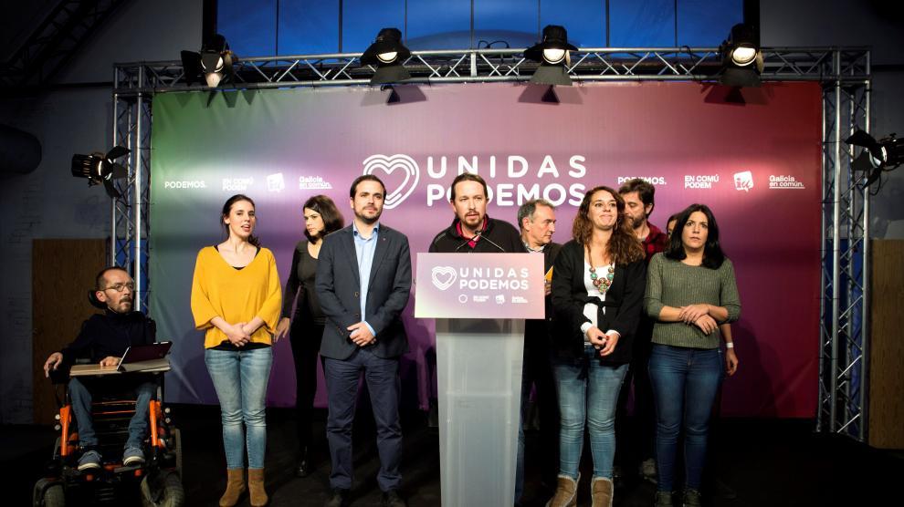 Pablo Iglesias comparece tras los resultados electorales