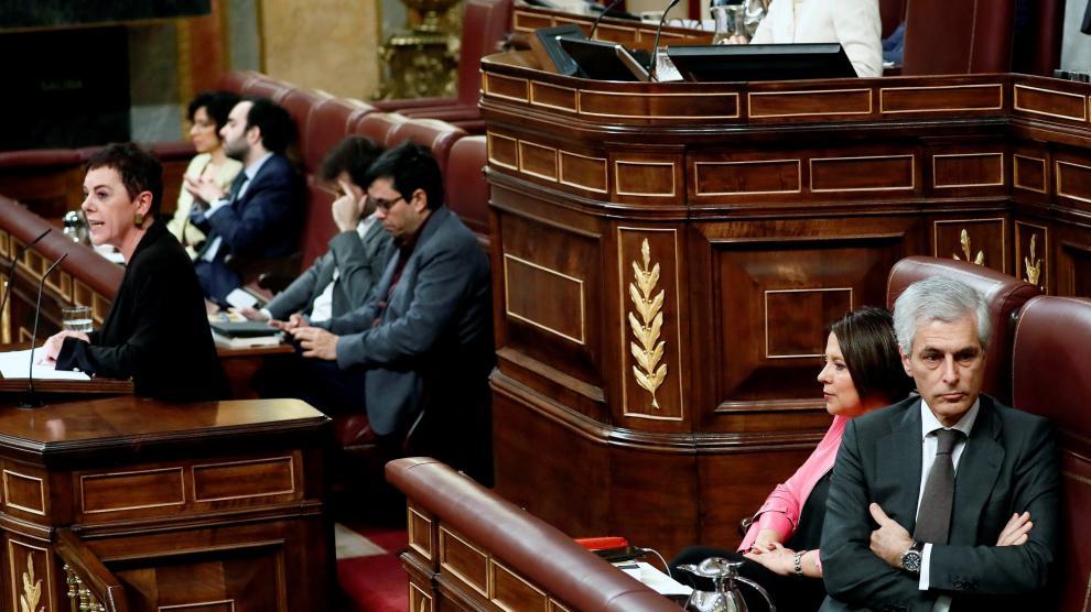 Bronca jornada de la sesión de investidura de Pedro Sánchez.