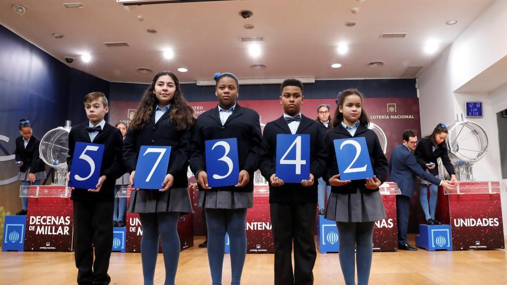Primer premio de la Lotería del Niño 2020.