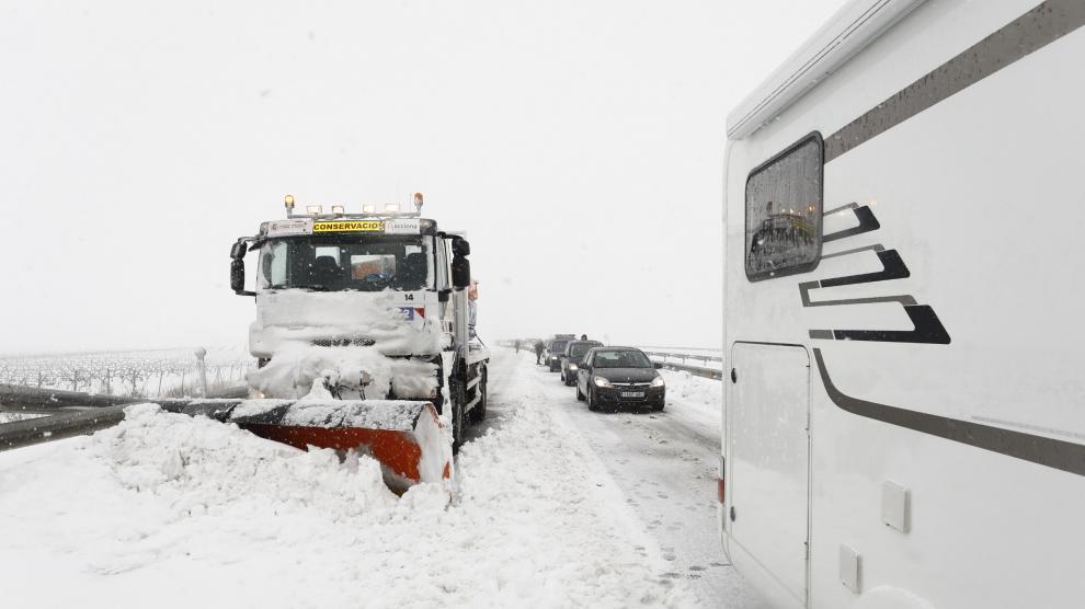 Borrasca Gloria: Afecciones de la gran nevada en el puerto de Paniza