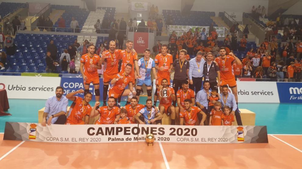 El CV Teruel gana la Copa del Rey de voleibol