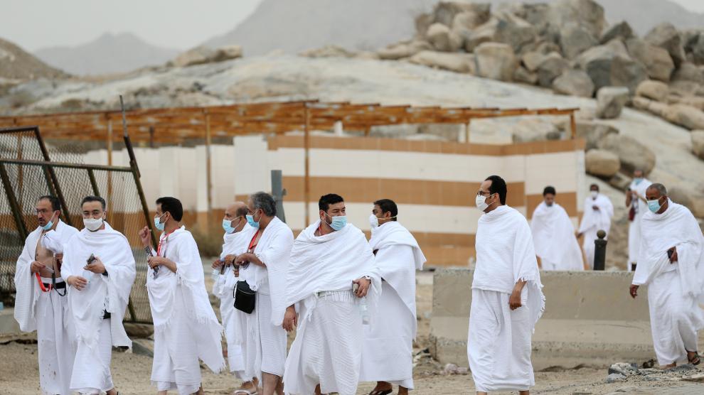 Musulmanes en el monte Arafat