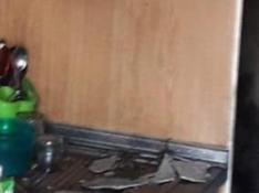 Así ha quedado la vivienda que ha sufrido un incendio en Alfajarín.