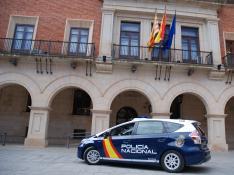 La Policía Nacional socorre a un anciano en estado inconsciente en Teruel