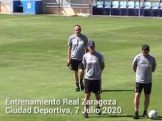El Real Zaragoza comienza los entrenamientos para afrontar el partido frente al Tenerife