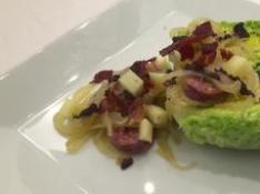 Cocina con Segarra: Ensalada de longaniza, queso, jamón de Teruel y cebolla de Fuentes