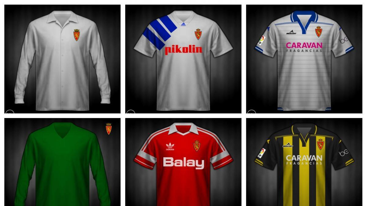 Así han cambiado las camisetas del Real Zaragoza  745572b80d8