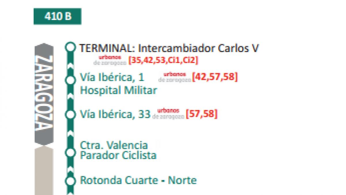 Autobús Zaragoza - Cuarte: recorrido, horarios y precios