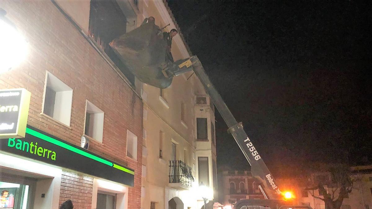 Carta de gratitud del cura de Fonz por haber sido rescatado del incendio de su casa