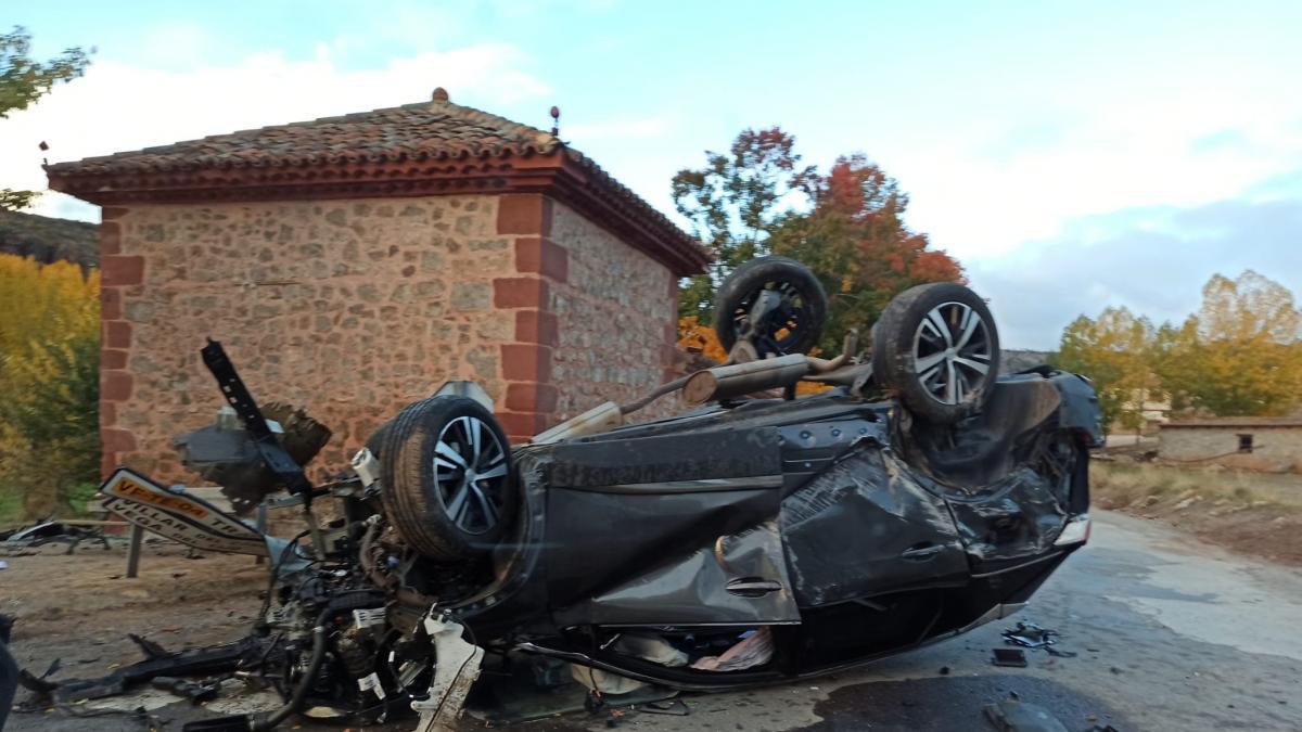 El teniente de la Guardia Civil en Albarracín da positivo en el test de alcoholemia tras volcar con su coche en su día l