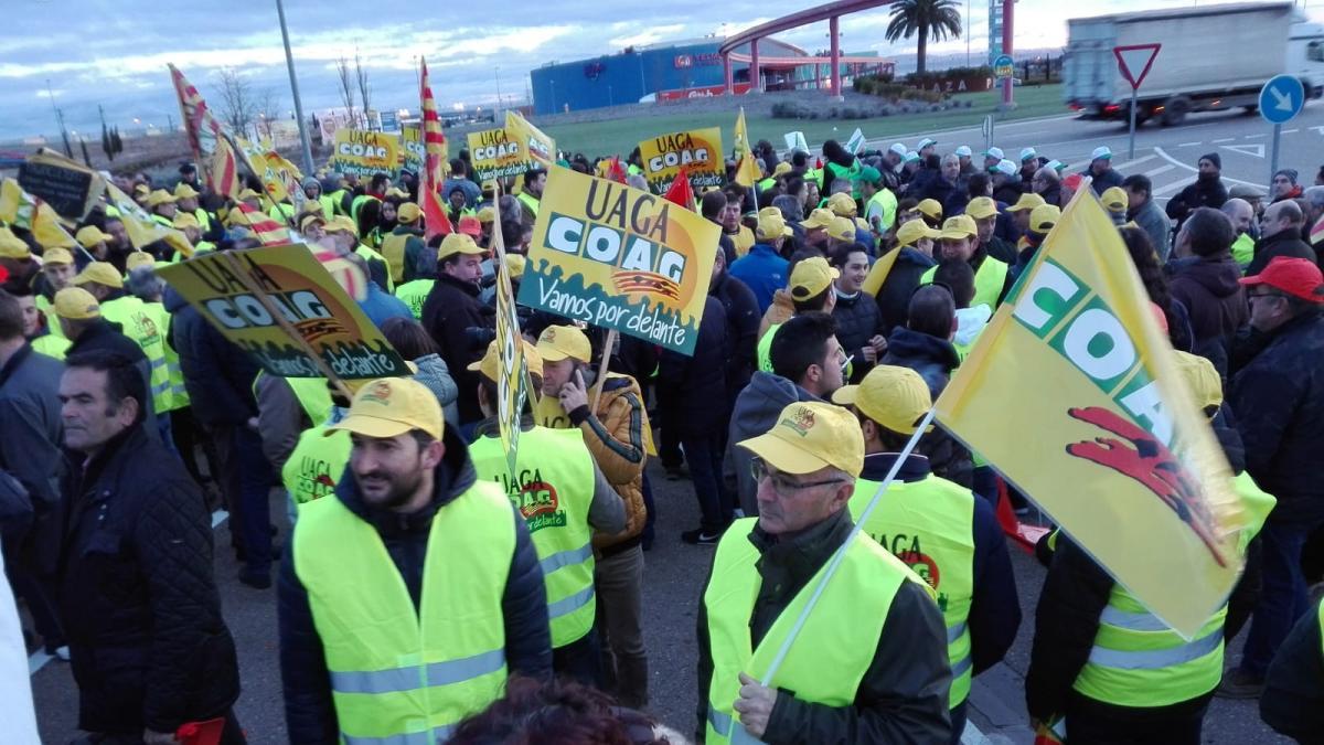 Protestas de agricultores