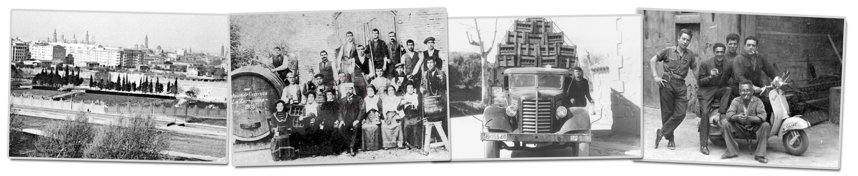 Trabajadores de Ambar en los primeros años de la fábrica y durante los años 50